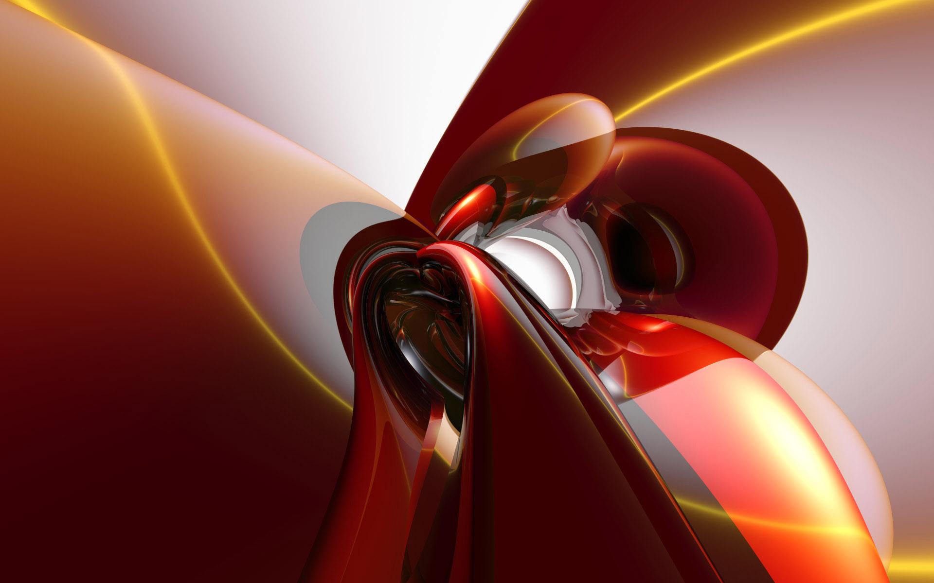 fond d'ecran 3d rouge