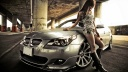 Japanese girl with BMW car