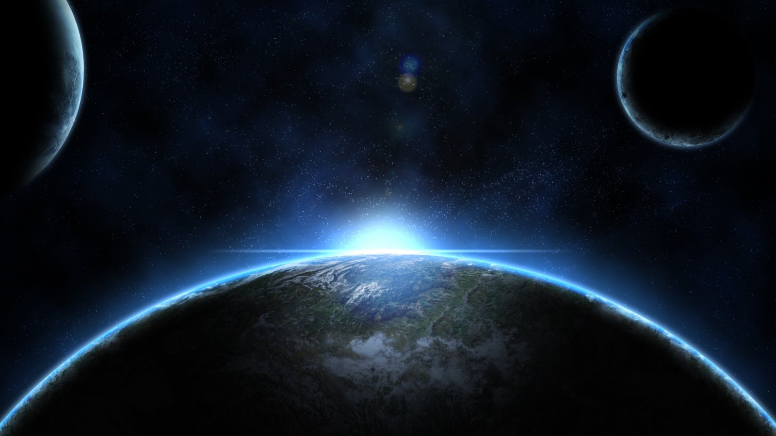 cool planet earth and sun - photo #8