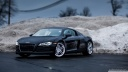 audi r8   tilt shift lens-wallpaper-1600x900