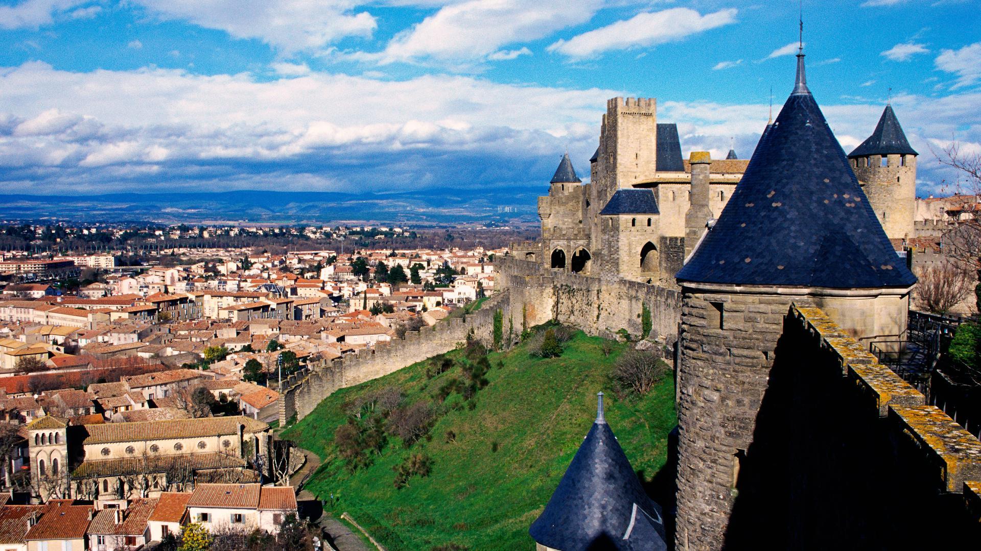 Muralhas em Carcassonne