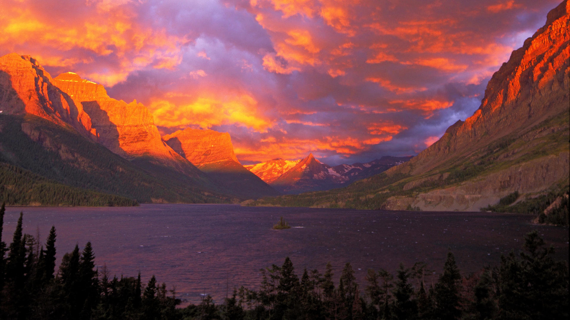 Snow Mountain Sunrise Wallpapers Download at