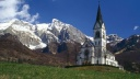 Dreznica Church, Soca Valley, Slovenia