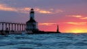 Michigan City East Pier Lighthouse, Michigan City, Indiana