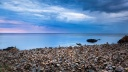 Plage de galets - wallpaper