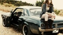 Girl-Sitting-on-Ford-Mustang-1967-1600x900-wide-wallpapers.net
