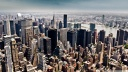 aerial view of new york city tilt shift photography-wallpaper-1920x1080