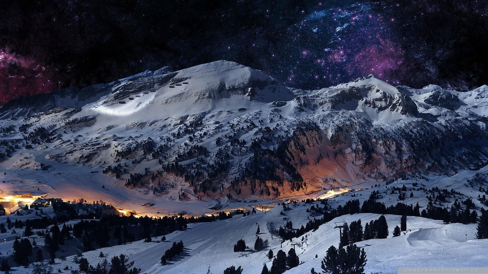Night sky snow wallpaper 1920x1080 10 000 fonds d 39 cran for Immagini full hd 1920x1080