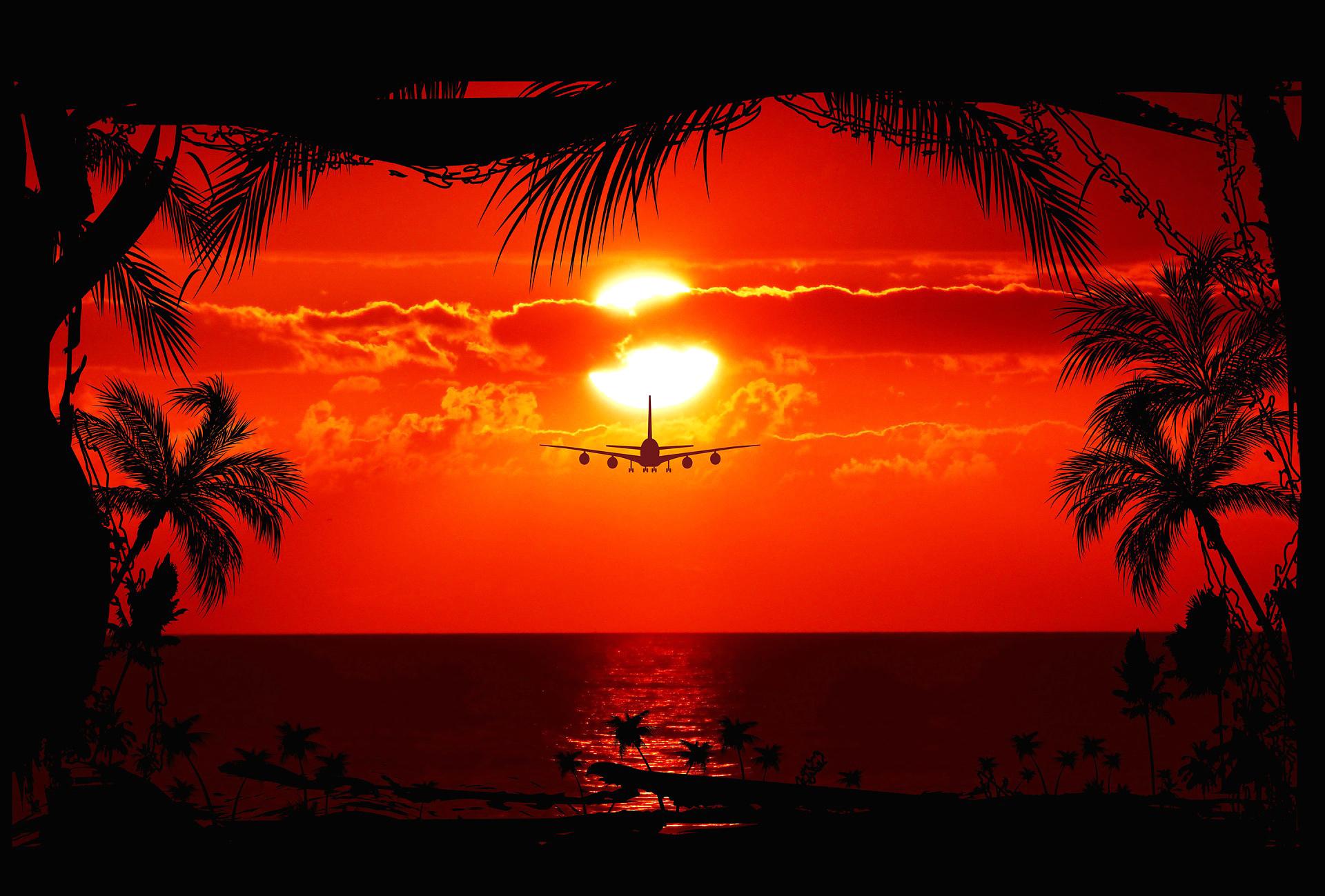 Avion Coucher De Soleil 10 000 Fonds D Ecran Hd Gratuits
